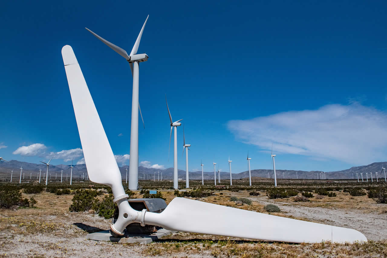 The blades of a wind turbine cannot be recycled