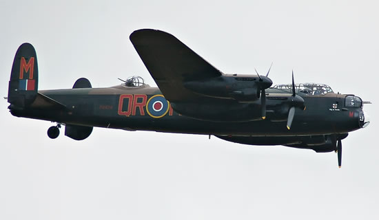 Avro Lancaster Bomber at the Eastbourne Air Show