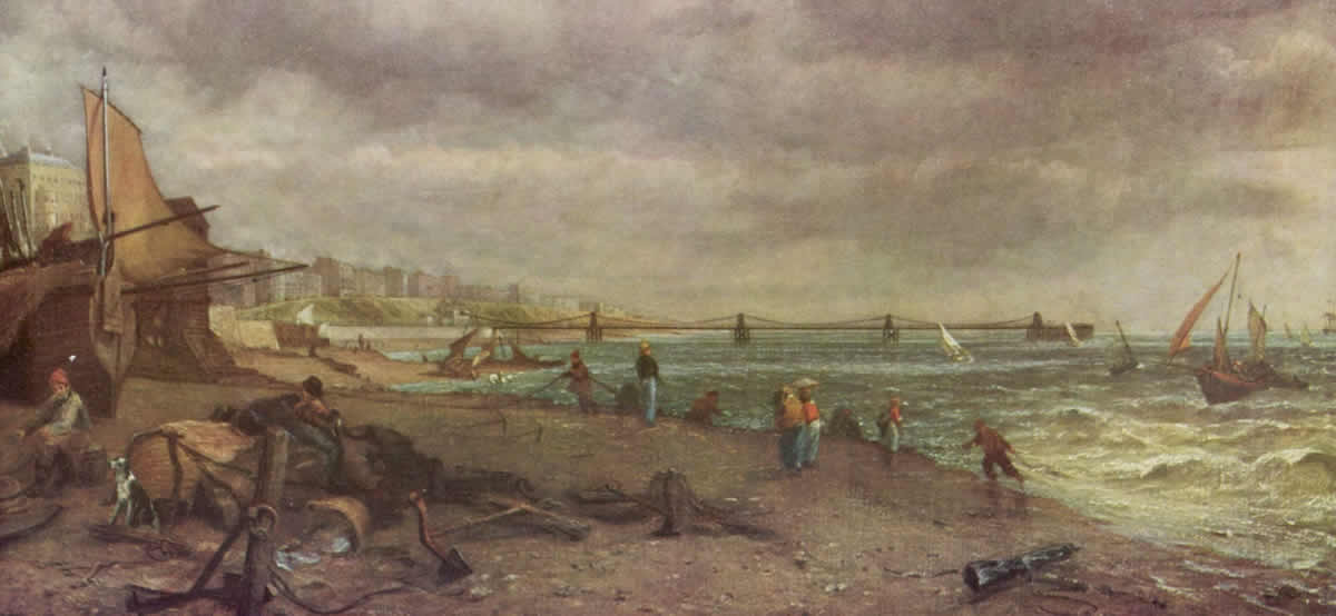 Painting of Brighton Chain Pier by John Constable