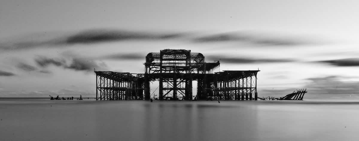 Brighton's iconic derelict West Pier
