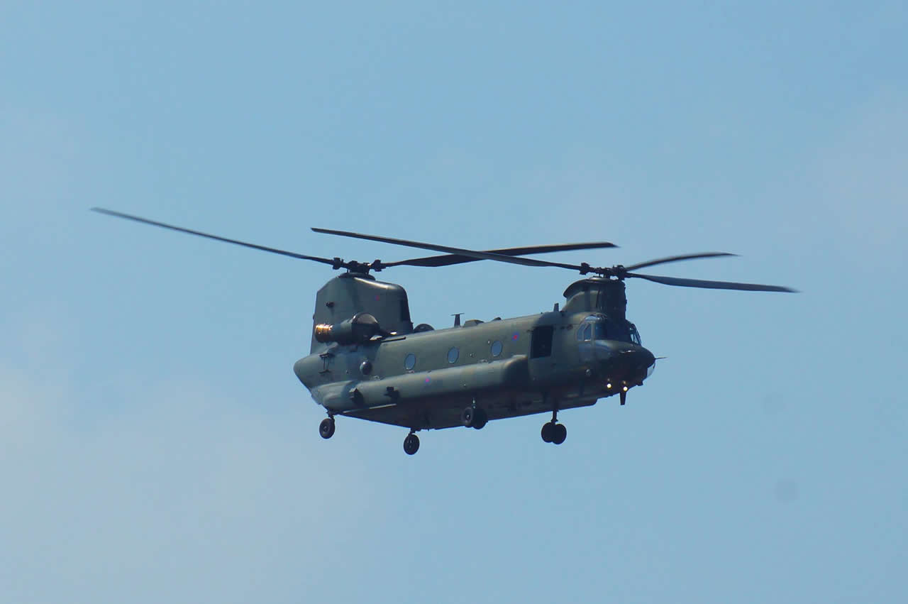 RAF Chinook scheduled to appear at Eastbourne Airbourne 2019